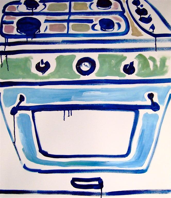 Centrinforno, olio su tela 60x70, 2012