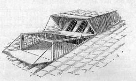 Een zogenaamde dubbele kijker uit circa 1880. Onder uitlaten, boven binnenlopen
