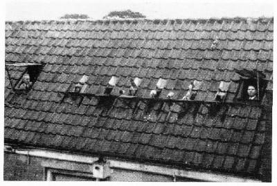 Een oude foto van het kotjesspel in Nederland