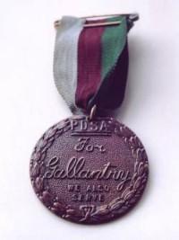 Een voorbeeld van de Dickin-medaille