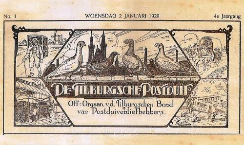 In 1929 waren er nog regionale en lokale bonden. Op dit knipsel zijn verschillende manieren van duivenvervoer afgebeeld.