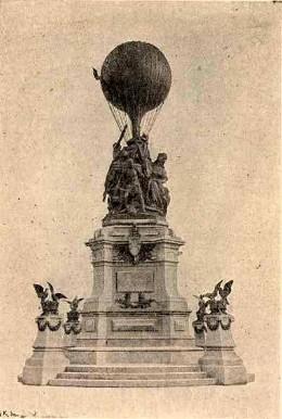 Dit monument werd in 1906 in Parijs opgericht ter ere van de ballonvaarders en de postduiven. Het werd neergehaald en gesmolten door de Duitsers in 1944.