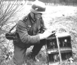 Een Duitse militair schrijft een bericht