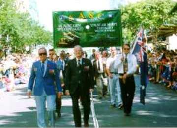 Op Anzac Day, de Australische bevrijdingsdag, lopen in de optocht van veteranen ook duivenhouders mee die zich hebben ingezet in de Tweede Wereldoorlog