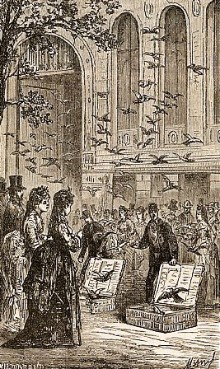 Het lossen van de duiven in Tours