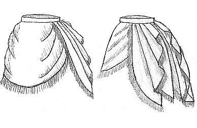 """""""Drapet Skirt"""" 1870"""