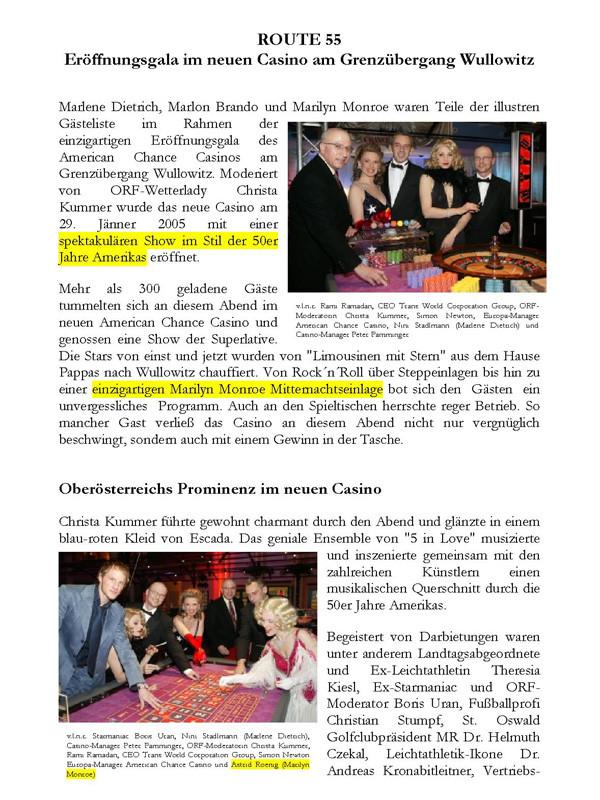 Eröffnung American Chance Casino, Wullowitz, Kummer, Roenig, Stadlmann, Seite 1