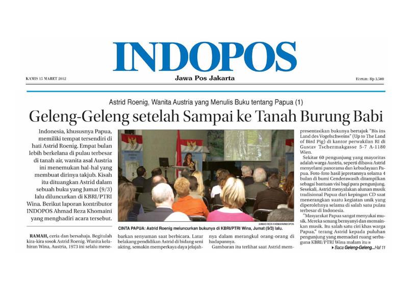Bis ins Land des Vogelschweins. Multimediashow. Indonesische Botschaft Wien