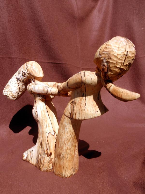 """""""Tellerreiben"""" 2012: Birke: 46cm x 40cm x 9cm"""