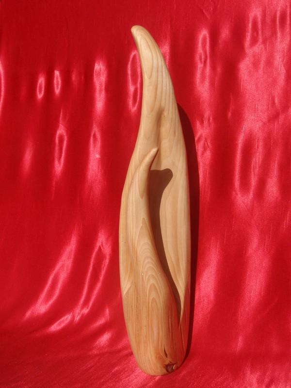 """Flammenhand"" 2011: Linde: 62cm x 15cm x 11cm"
