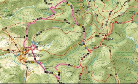 Rothaarsteig Karte.Oberhundemer Bergpfad Rothaarsteig Spur Wandern Tagestouren