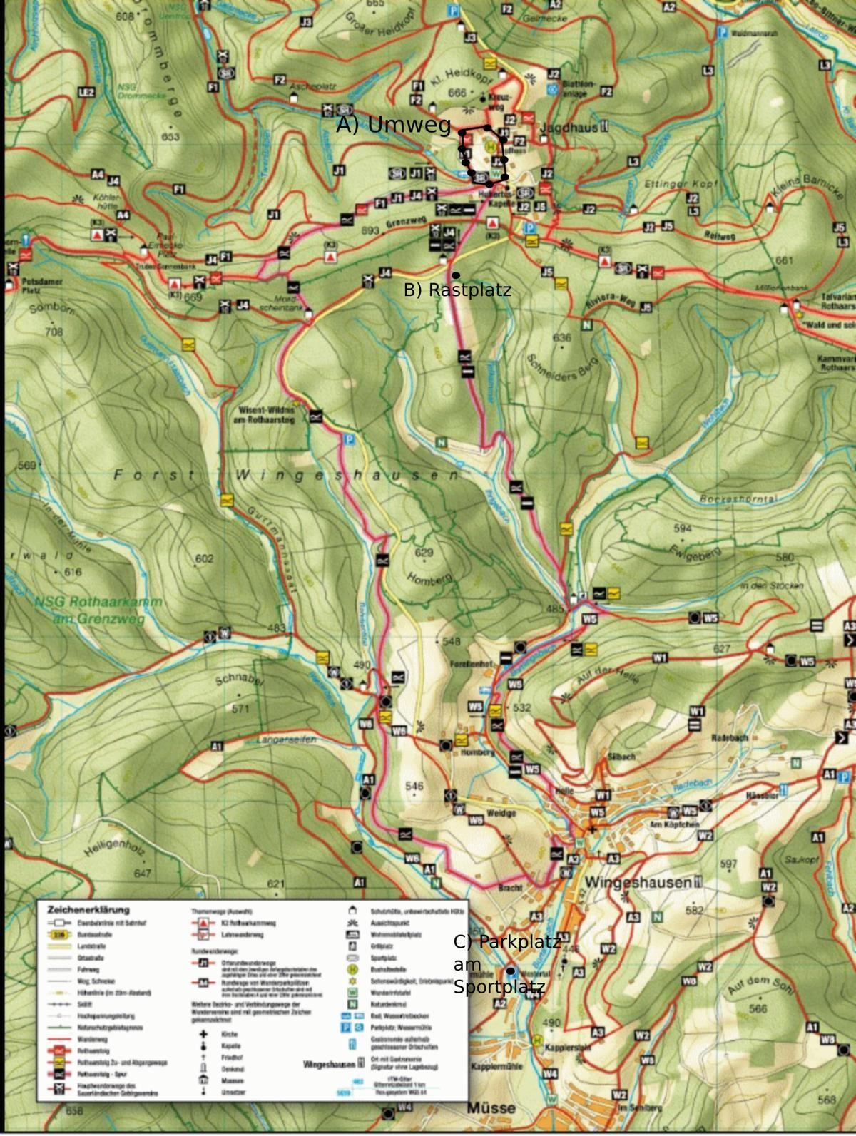 Rothaarsteig Karte.Wisentpfad Rothaarsteig Wandern Tagestouren Produkttipps