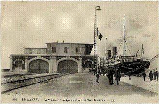 """""""La Savoie"""" à la gare maritime du Havre"""