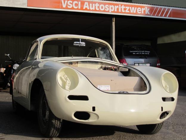 Porsche 356 Lack neu aufgebaut