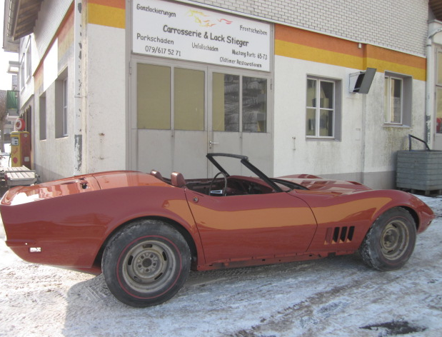 Corvette Lack neu Aufgebaut
