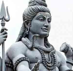 Representación de Shiva con su Tercer Ojo