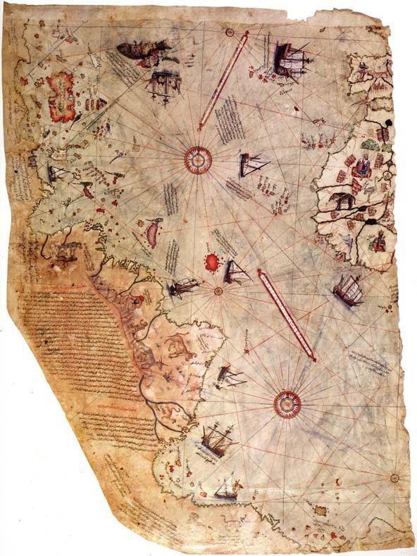 Mapa de Piri Reis. Desde su descubrimiento, el mapa ha despertado tanto la intriga y la polémica, sobre todo debido a la presencia de lo que parece ser una representación de la Antártida 300 años antes de que se descubriera.