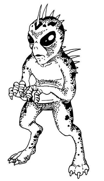 Dibujo de un Chupacabra
