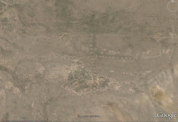 Geoglifos Kazajistán: Cruz.