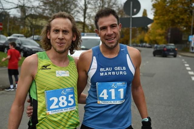 die schnellsten heimischen Läufer Oliver Hoffmann und Sebastain Schaake FOTO Schaake