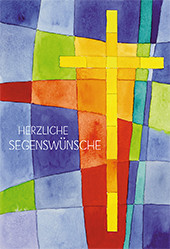 Karte zum Priesterjubiläum - Kreuz im Lebensfeld