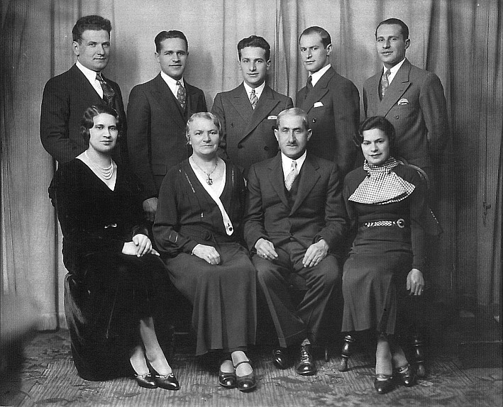 Familie Moses Braunschweiger 1933 in New York - ohne Tochter Hanna