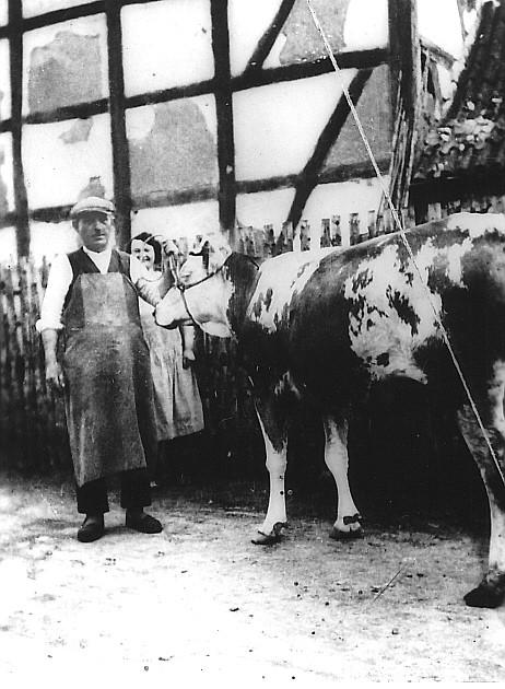 Viehhändler Emanuel Braunschweiger um 1936 (Schlossstraße)