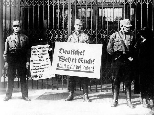Boykott jüdischer Geschäfte im Jahr 1933