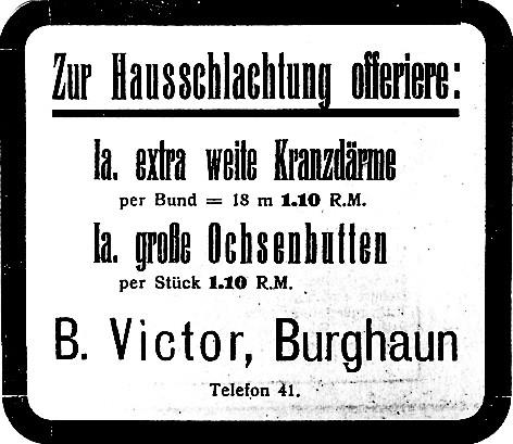 Metzgereizubehör Bernhard Victor (später Max Victor), Ringstraße