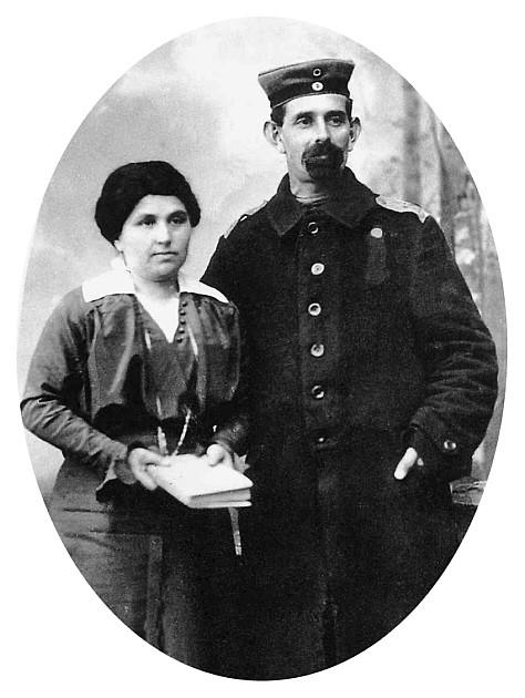 David Braunschweiger mit seiner Ehefrau Regina geb. Schuster um 1916