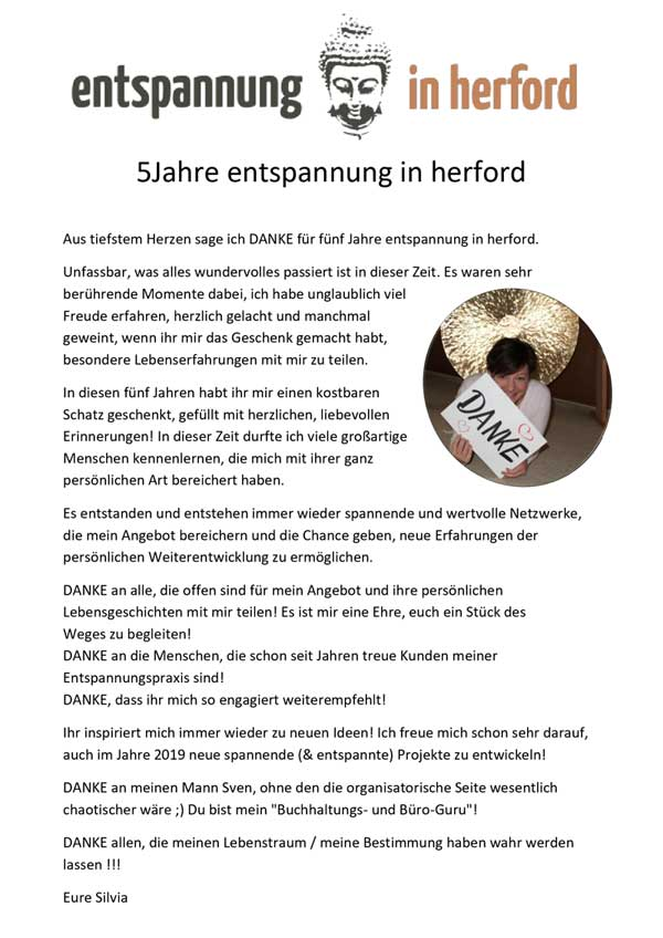 5 Jahre enspannung in herford