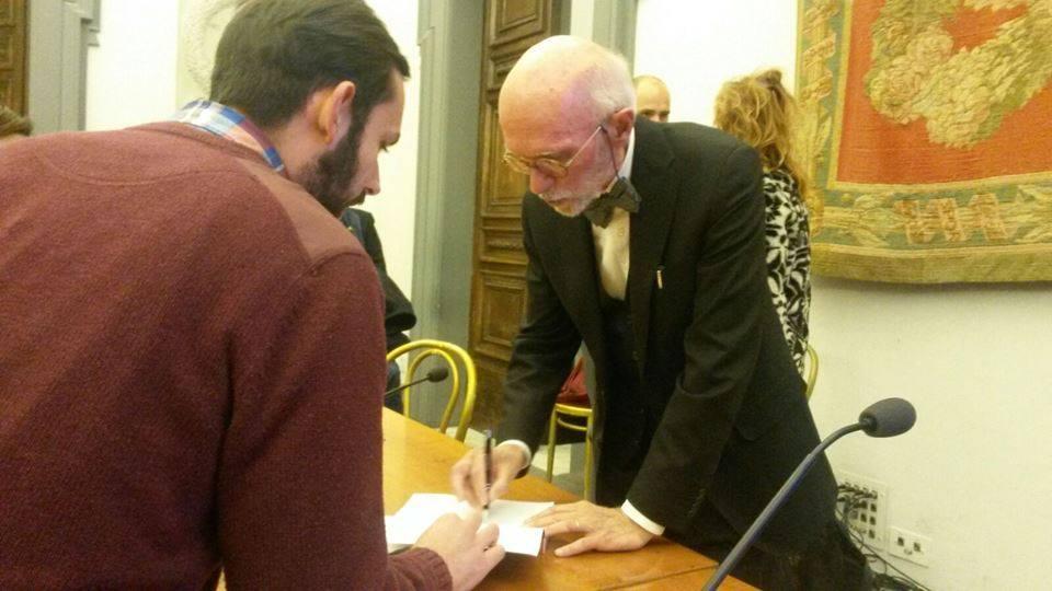 Con il dottor  Franco Berrino, in una sua conferenza a Roma.
