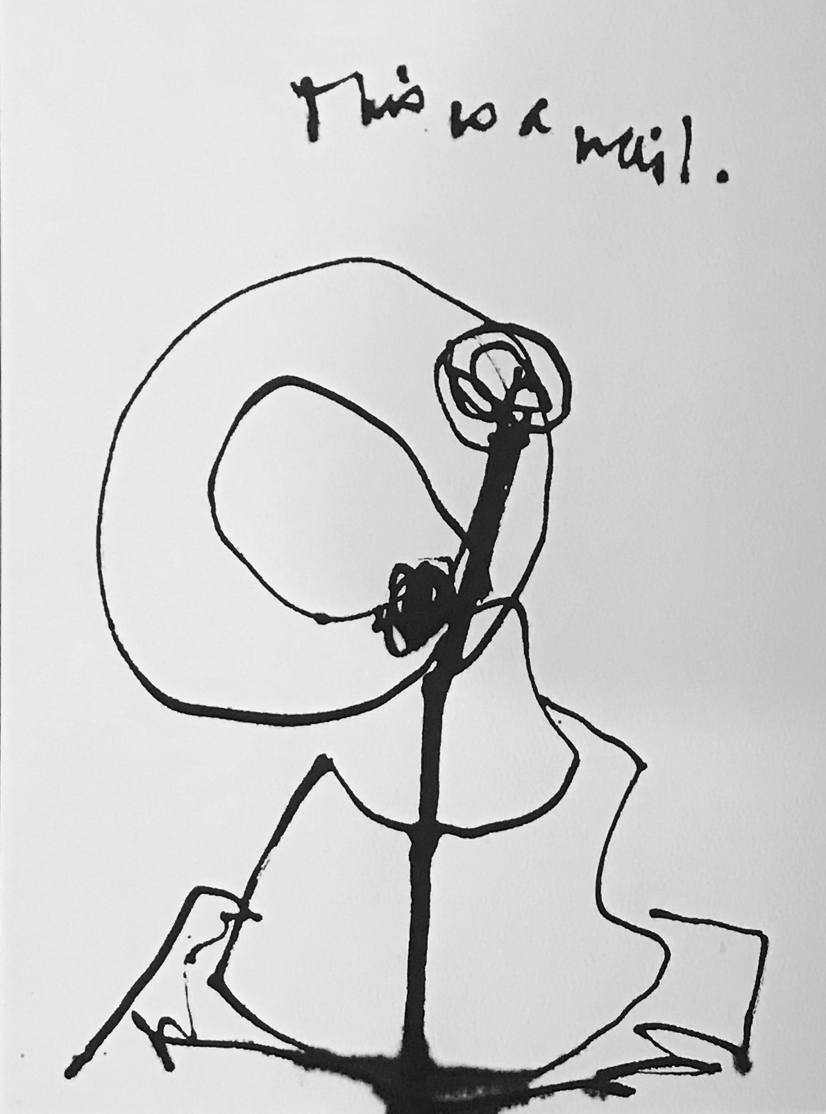 It's a Nail, Ink on paper drawing.