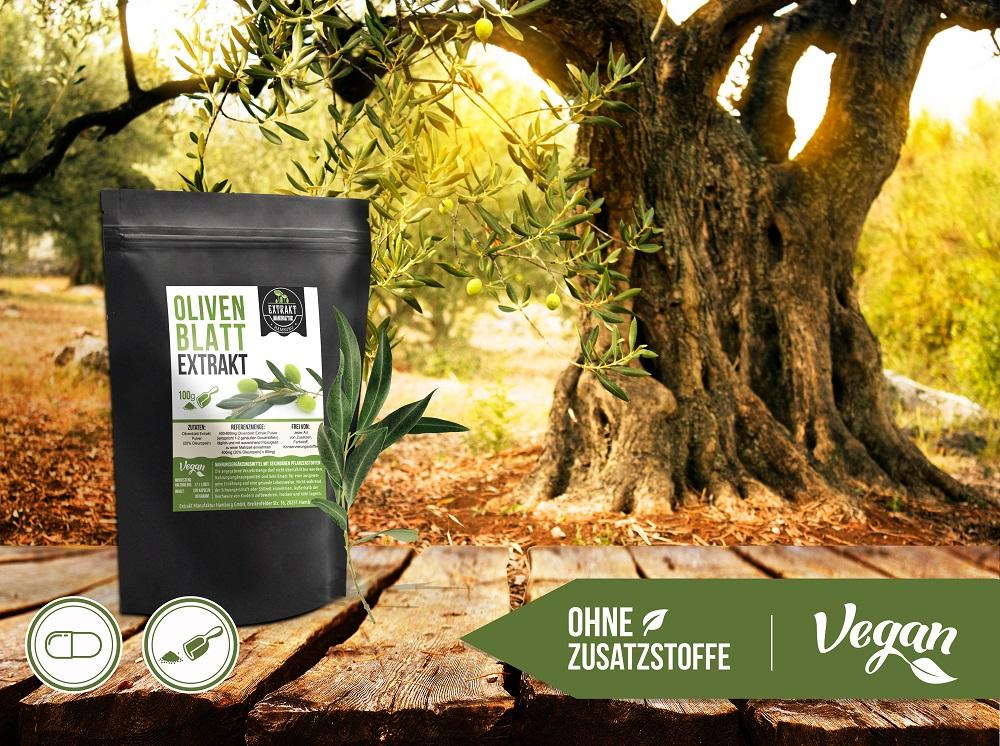 foodfrog olivenblattextrakt pulver kapseln