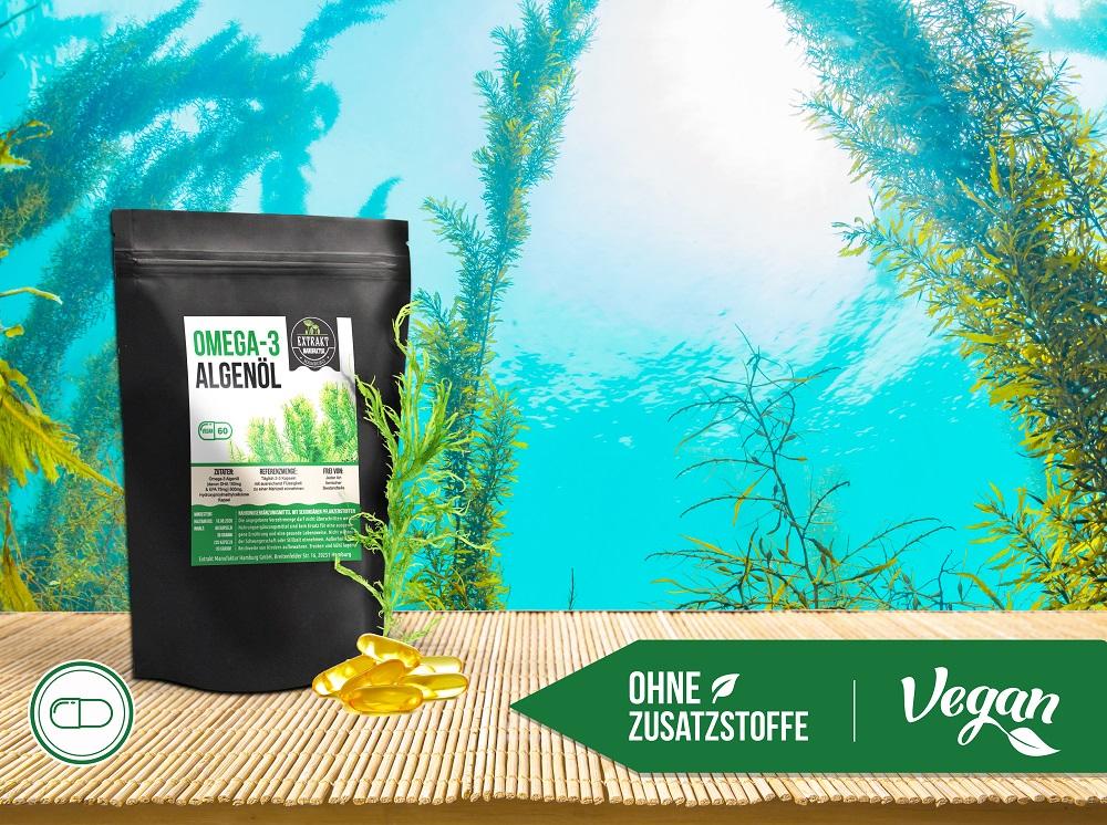 foodfrog vegane omega 3 algenöl kapseln