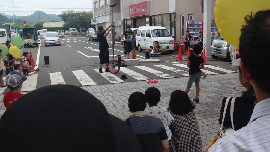 大道芸の共演 アーリーキャッツ