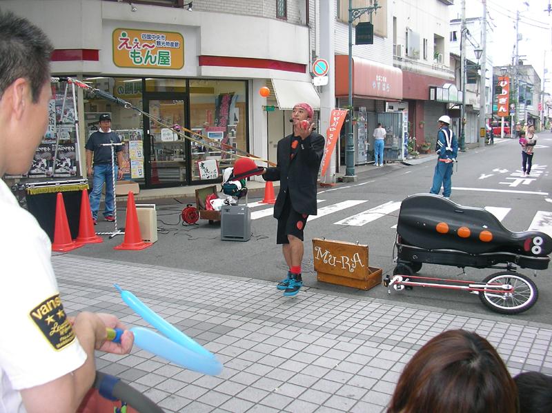 大道芸の共演 Mu-ra