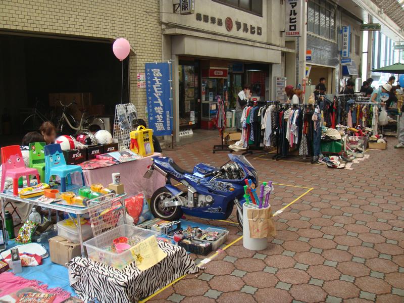 四国中央紙まつり フリーマーケット(駅通り商店街)