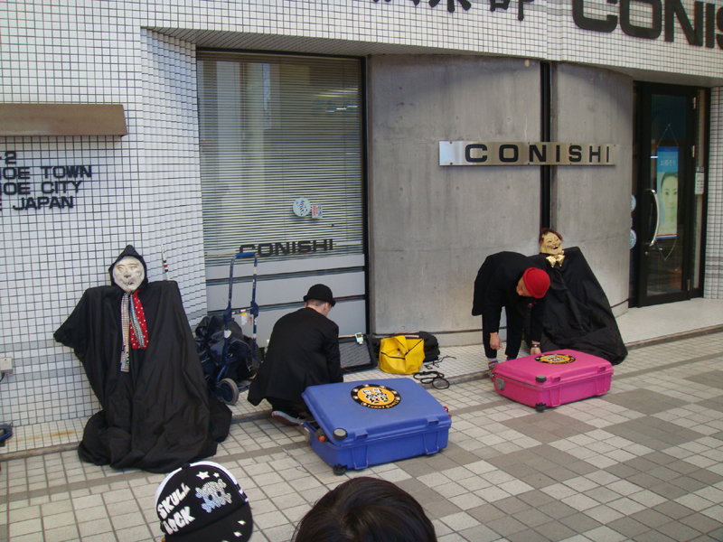 大道芸の共演 ファニーボーンズ