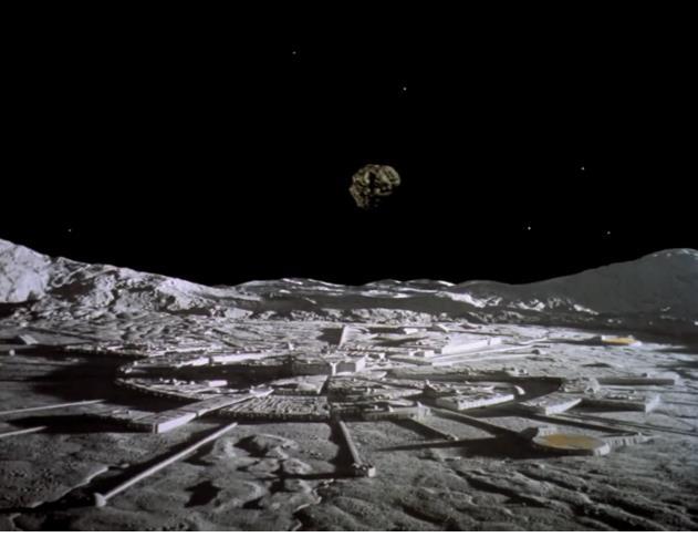 Auf seiner Reise durch das All muss die Crew der Mondbasis viele Abenteuer bestehen