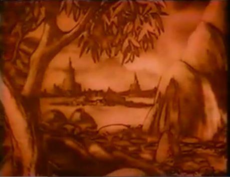 """""""Cinemagig"""", ein Rotfilter der schlecht gemalte Mattepaintings übertüncht"""