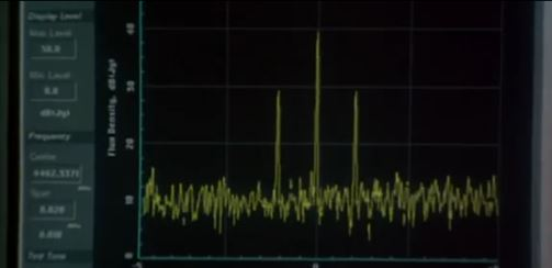 das Signal taucht zum ersten Mal auf