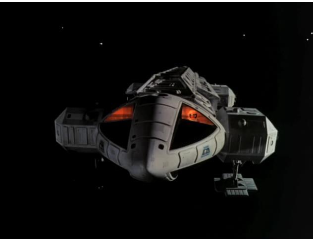 Der weltberühmte Adler, vielleicht eines der besten Designs einer Science Fiction Serie überhaupt