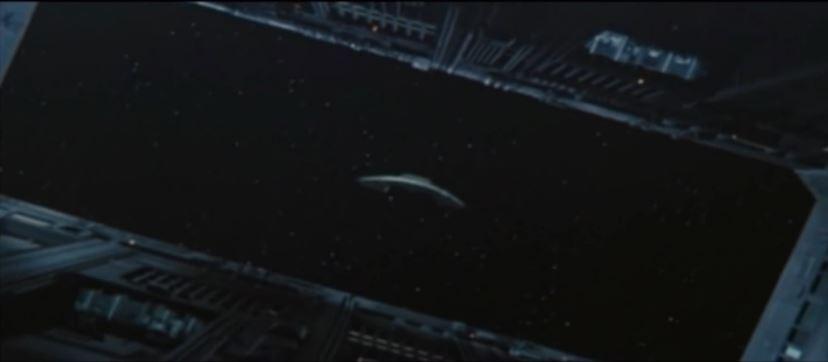 die Weltraumszenen kann man wirklich als gelungen betrachten, hier der Start eines Shuttles von der Raumstation