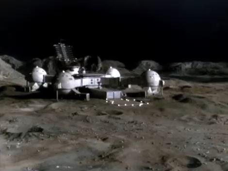 U.F.O. zeichnet sich durch sein ungewöhnliches Design, wie hier bei der Mondstation, aus