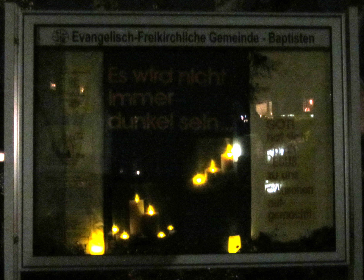 Es wird nicht immer dunkel sein (Nacht) Schaukasten