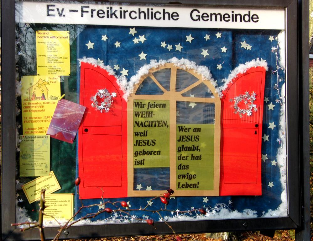 Weihnachten 2011 Schaukasten