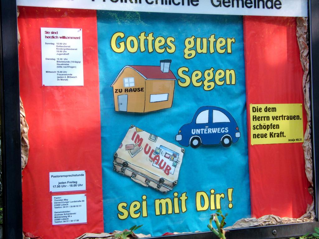 Gottes Segen sei mit Dir  3/2011 Schaukasten