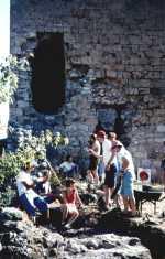 Chantier de fouilles du château