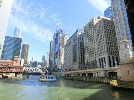 Vom Chicago River aus